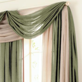 2 Colors Curtains Living Room Window Decor Master