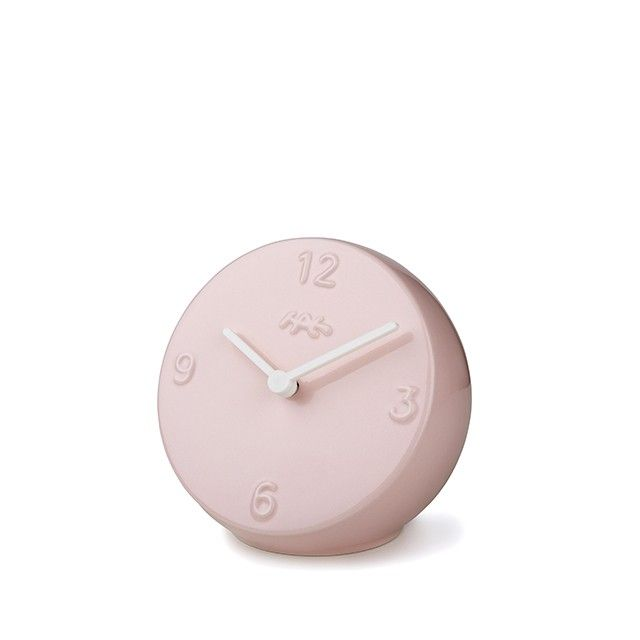 Ora Table Clock Rose/White