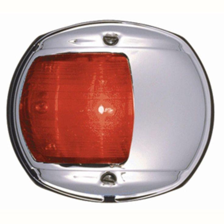Luxury Perko LED Side Light Red V Chrome Plated Housing