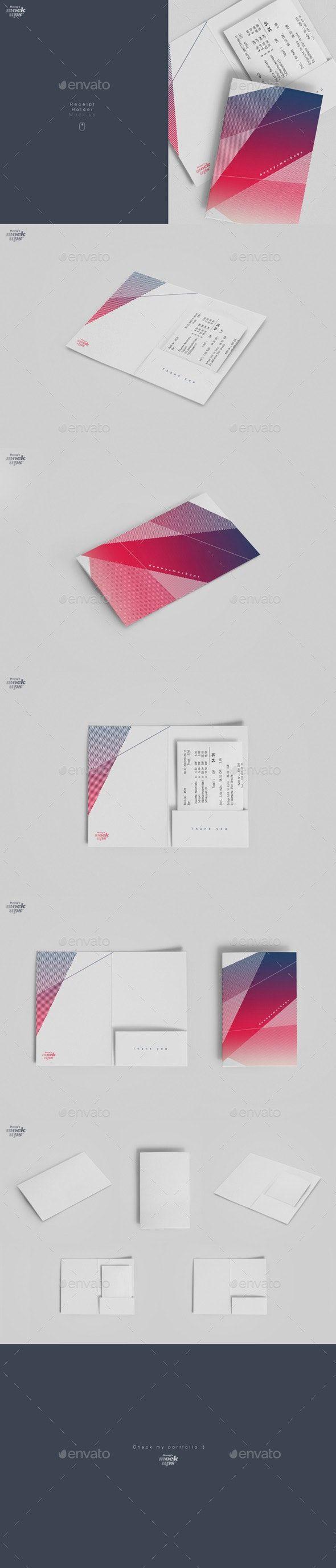 Receipt Holder Mockup Creative Graphic Design Graphic Design Templates Mockup Photoshop