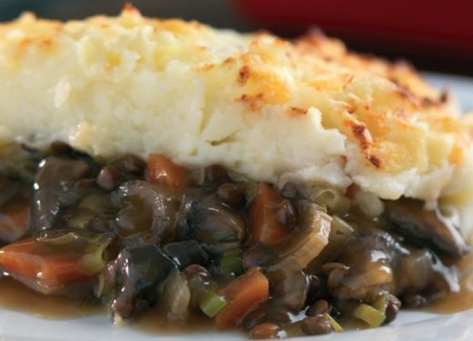 Hearty Flat Mushroom and Puy Lentil Cottage Pie Recipe : Cook Vegetarian Magazine