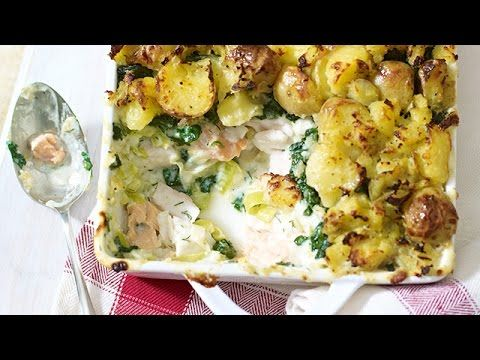 Marry Berry's Fish Pie with Crushed Potato Topping - YouTube