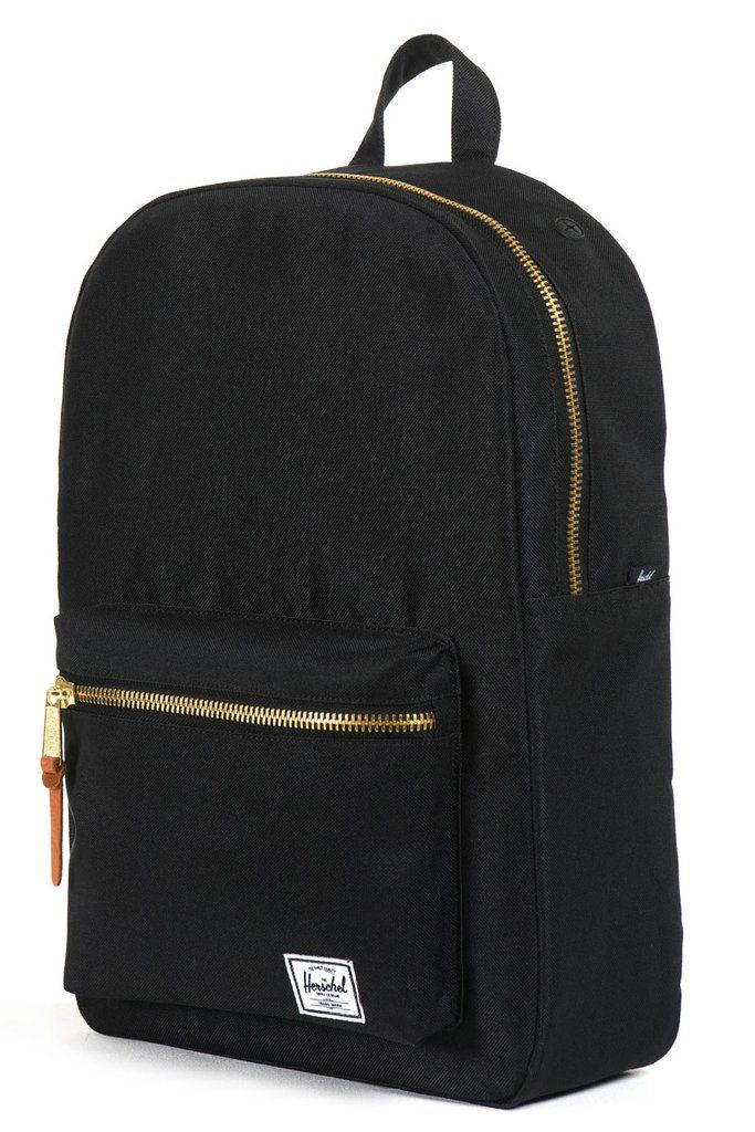 """The scaled down and practical Herschel Settlement Mid-Volume backpack pairs vintage style with modern construction. Dimensions: Measures 16.25"""" x 11.25"""" x 4.5"""". Details: Internal 13"""" laptop sleeve. Le"""