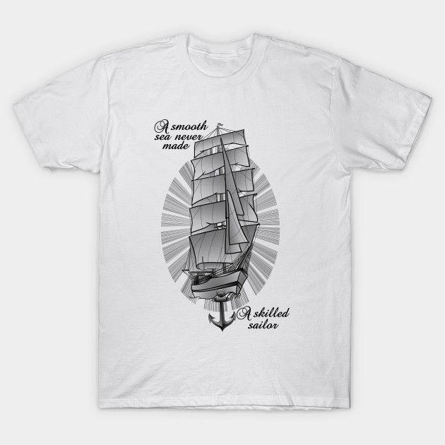 Sailing ship schooner t-shirt