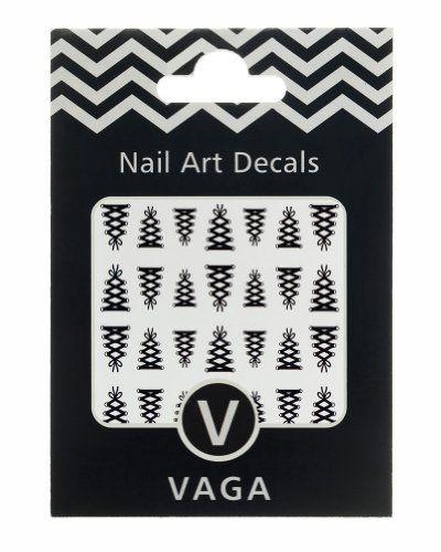 Décorations Stickers Corsets à Lacets Nail Art Design Decals Couleur Noire par VAGA®   Your #1 Source for Beauty Products