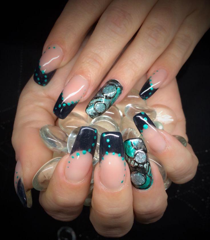 #flowernaildesigns | Trendy nail art, Flower nail art