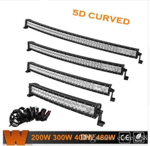 "22"" 32"" 4"" 50"" 5D Curved LED Light Bar With CREE Chips Offroad Led Work Light Combo Beam for Jeep Truck ATV SUV UTV 4WD - $101.99"