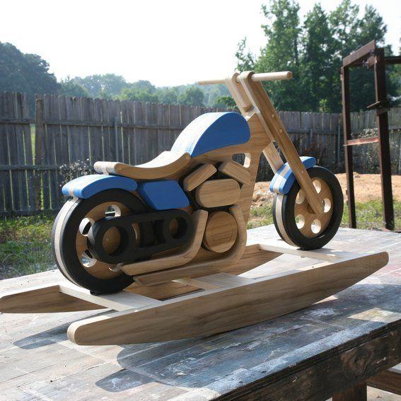 Free motorcycle rocking horse plans woodworking projects for Woodworking plan for motorcycle rocker toy