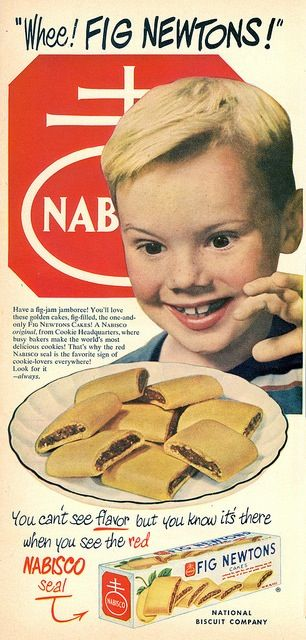 Fig Newtons. Didn't these use to have frosting on them(like a PopTart has?).  I remember raspberry flavored centers with frosting.