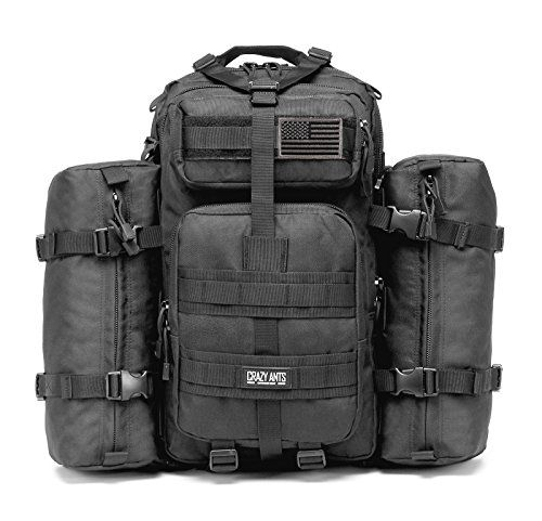 "Exactly what you want! ""Military Tactical Backpack Waterproof Outdoor Gear for Camping Hiking ,Black + 2 Detachable packs"" [Click here] to learn about this amazing product. *Limited stock available..."