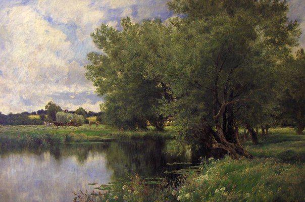 Английский художник-пейзажист: Джон Клейтон Адамс (John Clayton Adams; 1840 - 1906)
