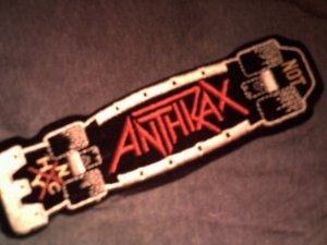 OLD ANTHRAX PATCH. #SKATEBOARDING