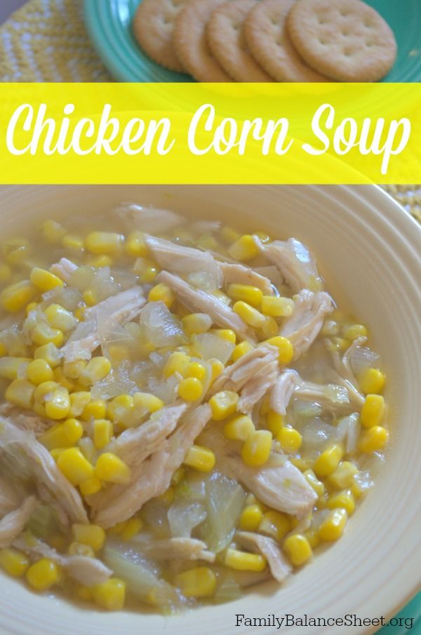 Chicken Corn Soup is a winter staple at our house. This hearty soup only takes 40 minutes to pull together AND bonus, it freezes really well.
