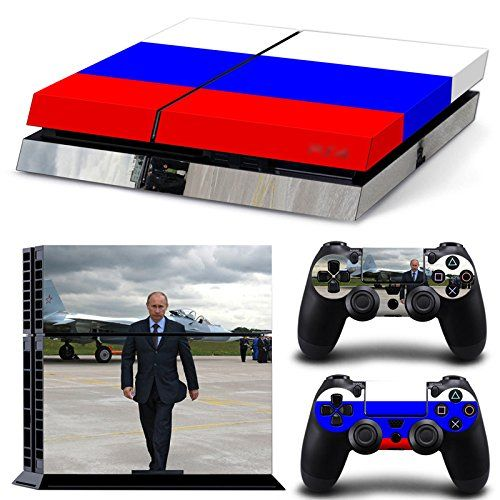 Protective Vinyl Skin Decal Cover for Sony PlayStation 4 PS4 Console  Remote DualShock 4 Controller Sticker Skins  Russia Flag -- Check out this great product.Note:It is affiliate link to Amazon.