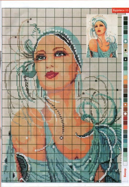 0 point de croix femme années trente - cross stitch lady in the thirties