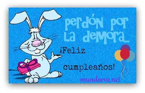 cumple atrasado tarjetas para desear feliz cumpleaños Pinterest