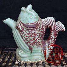 Antigüedades Decoración Cerámica Arte Shou Xing cerámica olla de cerámica tetera retro adornos olla carpa(China (Mainland))