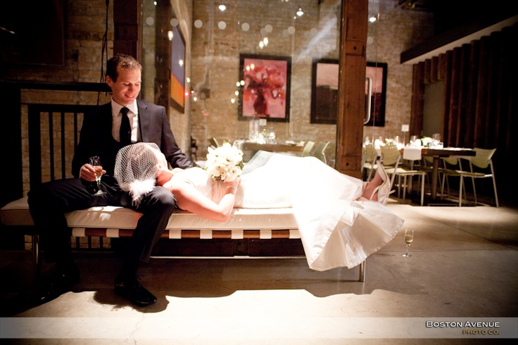 Boiler House wedding, time to relax...