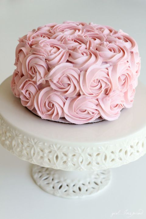 Advanced Cake Decorating Techniques Pinterest : 25+ Best Ideas about Pink Rosette Cake on Pinterest ...