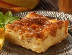 Scottish Bread Pudding (This feather-light bread pudding has a texture similar to crème caramel. By baking the pudding in a water bath, the texture is creamier and more delicate. This was a test kitchen favourite.) http://lucywaverman.com/index.php/component/content/article/24-recipes/1121-scottish-bread-pudding-with-whisky-sauce-.html