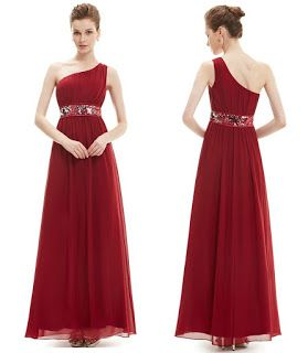 Products that inspire: One Shoulder Empire Waist Evening Gown