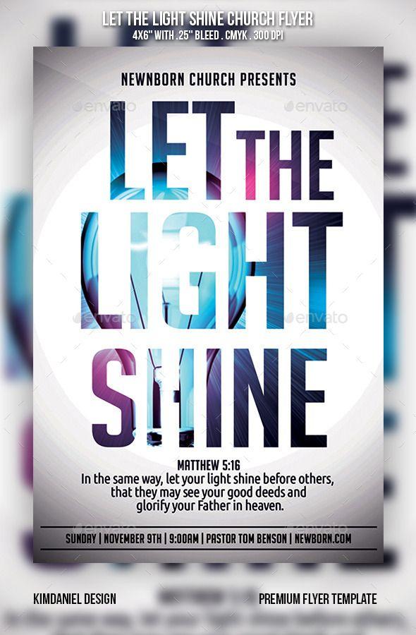 let the light shine church flyer - Flyer Design Ideas