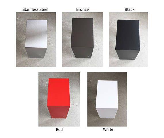Modern Mailbox Walnut and Stainless Steel Mailbox