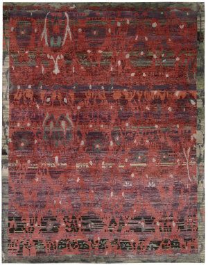 Nourison Dune Dun02 Pomegranate Area Rug Living Room