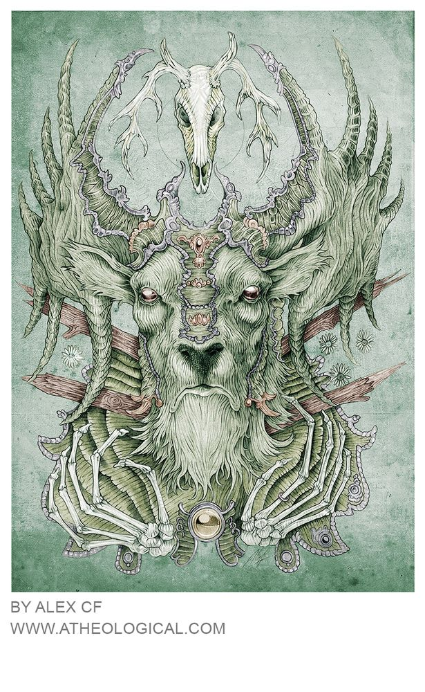 Eschea the Megaloceros  Eschea is a character from my upcoming novel  An 11.7 x 16.5 inch print on 250gsm tinitoretto gesso watercolour paper, limited to 20 prints only, signed and sent in acid free tissue paper and rolled in a sturdy tube.