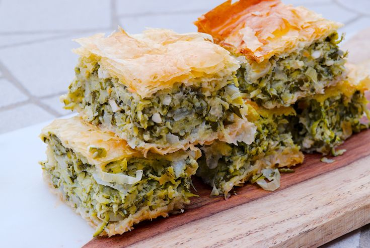 Greek Zucchini and Herbs Pie (Kolokythopita)