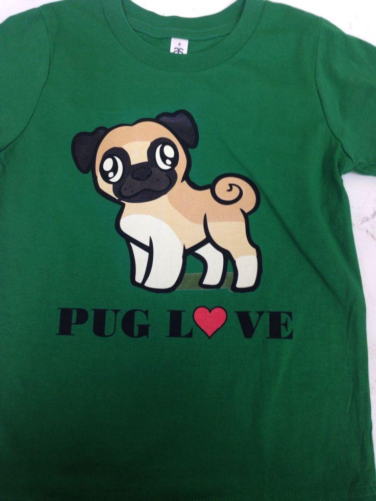 Pug love kids tshirt