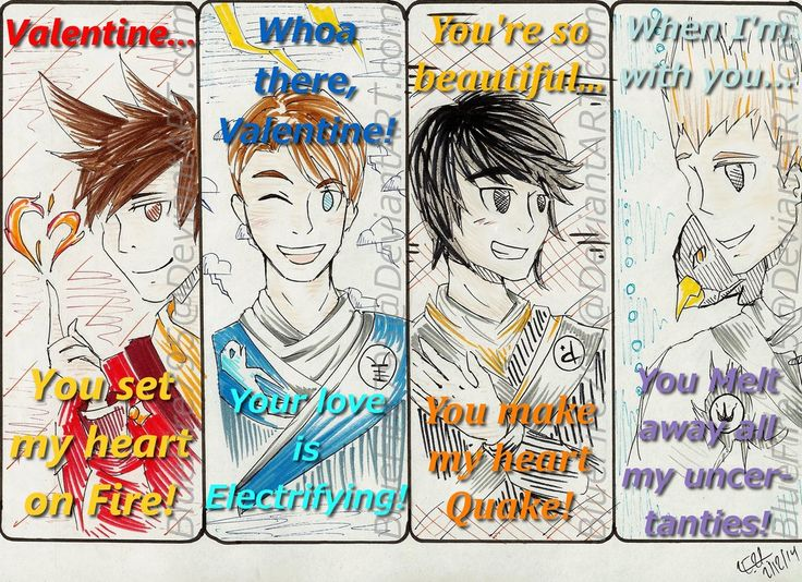 Awww.<3 I know it's not valentines Day any more but I had to pin this. :3 | NinjaGo Valentines by BlueFire795 on deviantART
