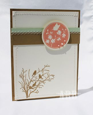 Stampin Up! Baked Brown Sugar Serene Silhouettes