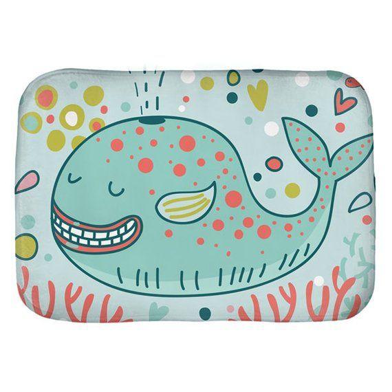 Whale Bath Mat Bathroom Decor Kid Tub Mat Kida Bathroom Wall Decor Shower Mat Boys Bathroom Shower Mat Door Mat Kid Bathroom Decor Whale Bath Mat Happy Whale