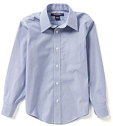 Brooks Brothers 4-20 Houndstooth Printed Dress Shirt