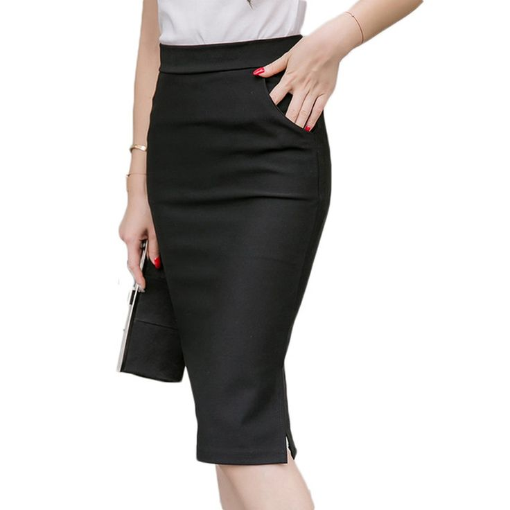 Autumn Spring Plus Size Sexy Office Skirt Women Elastic High Waist Long Formal Pencil Skirt Maxi Midi Skirts Saias TK021 #Affiliate