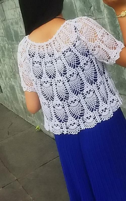 Gorgeous Pineapple Lace The clear pattern of this lace Sweater + 23 gorgeous crochet designs are in this wonderful magazin...