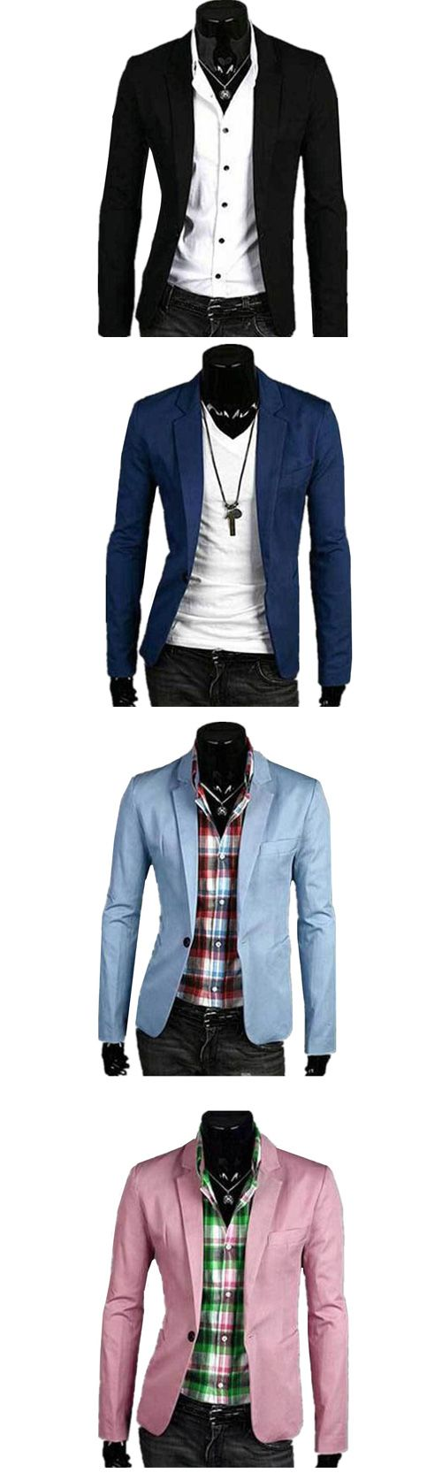 Men's Casual/Daily Simple Spring Fall Blazer