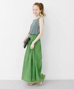 URBAN RESEARCH WOMENS / UR コットンシフォンマキシスカート(スカート)