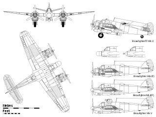 Bristol Beaufighter.svg    Armas de proyectiles:  4 cañones de 20 mm Hispano-Suiza HS.404 de tiro frontal bajo el morro  6 ametralladoras 7,7 mm en las alas  1 Vickers orientable de 7,7 mm en posición dorsal  1 torpedo y 2 bombas de 113 kg u 8 cohetes RP-3 de 27 kg.