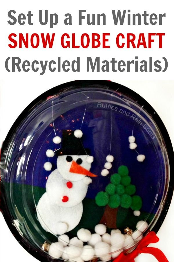 Make A Snow Globe Craft For Kids From Recycled Materials Kbn