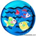 Paper Plate Fish Bowl craft
