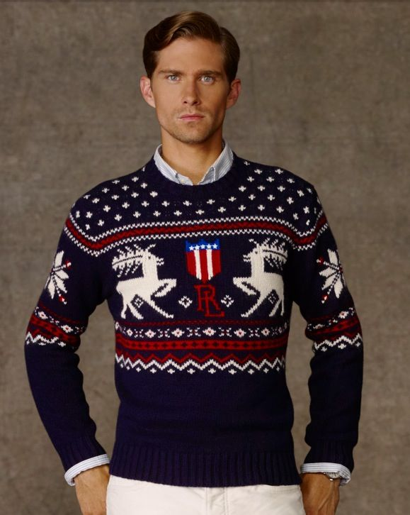 I love RLP's use of novelty to enhance that preppy, expensive image. Polo always has a tight assortment of fair isle sweaters and novel rugby's.