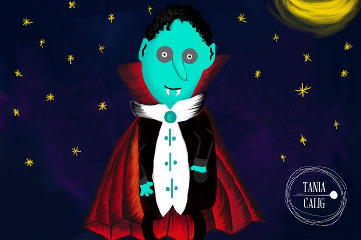 Dracula ilustration ... for kids ilustración infantil