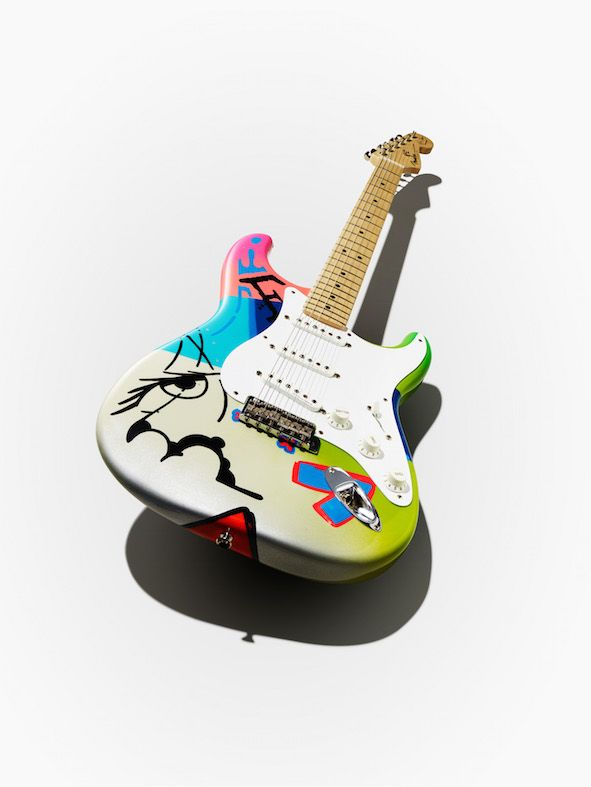 Ed Sheeran commissioned this Crash x Teddy M Stratocaster in 2015 and is currently playing it on the Divide Tour, 2017