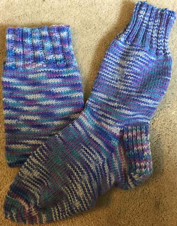 Basic Knitted Socks with Free Pattern | Needlepointers.com ...