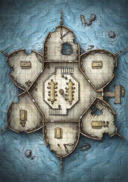 Talon of Umberlee Battle Map: Side A (Digital)