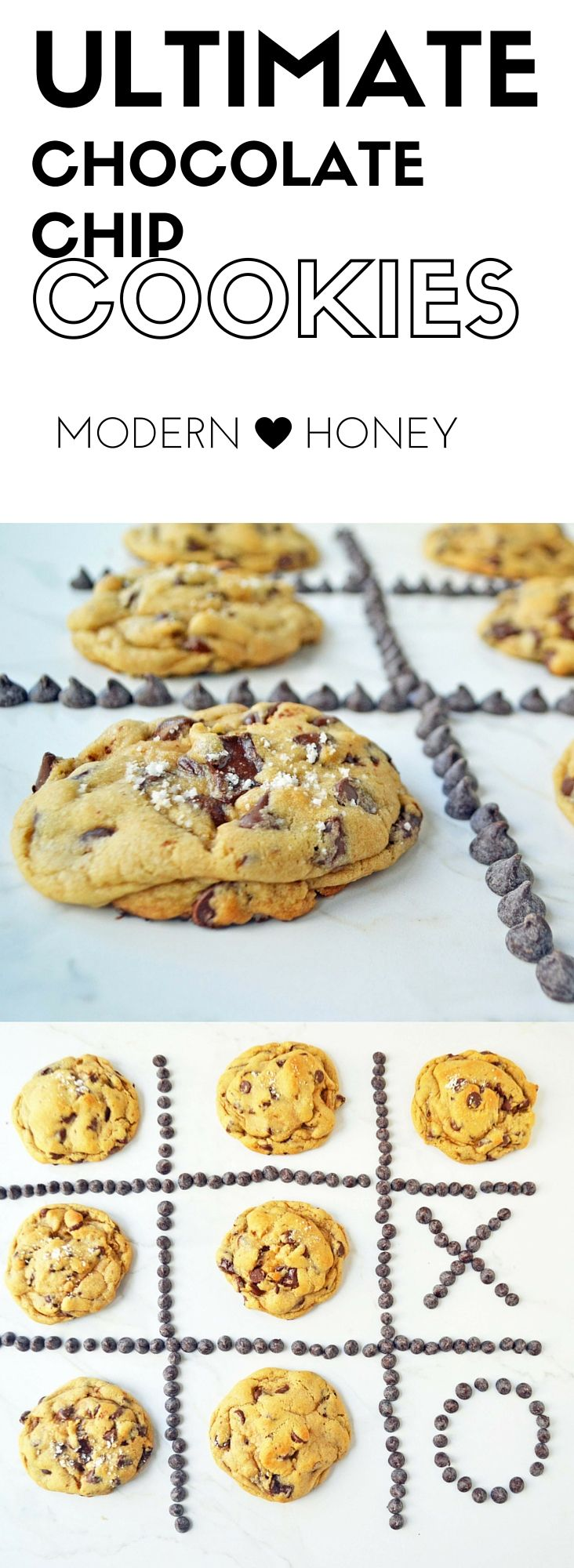Ultimate Chocolate Chip Cookies with tips on how to make the perfect chocolate chip cookies. Top the cookies with sea salt and you have the perfect cookie.