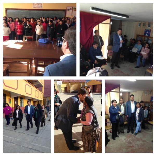 """Visita a la Escuela Nacional de Música """"Luis Felipe Arce"""" para conversar con maestros y padres sobre su realidad."""
