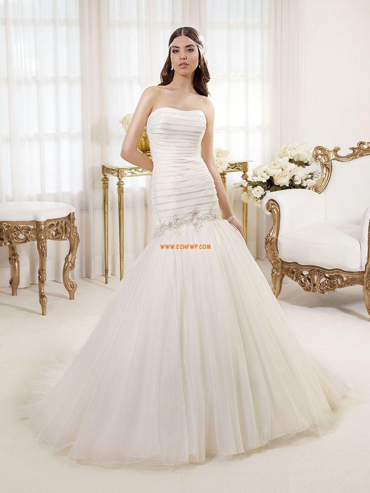 Corte Sirena Tul Baja Vestidos de novias 2014